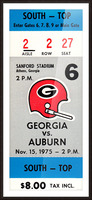 1975_College_Football_Georgia vs. Auburn_Sanford Stadium_Athens_Row One Picture Frame print