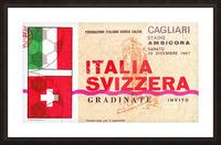 1967_Soccer_Italy vs. Switzerland_Cagliari Stadium_Row One Picture Frame print