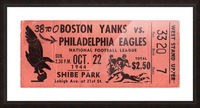 1944_National Football League_Boston Yanks vs. Philadelphia Eagles_Shibe Park_Row One Picture Frame print