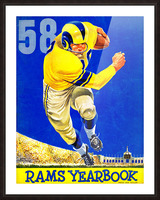 1958 LA Rams Football Yearbook Cover Art Picture Frame print