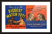 1936 Joe Louis vs. Max Schmeling Picture Frame print