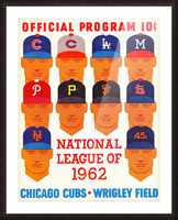 1962_Major League Baseball_Chicago Cubs_Program_Wrigley Field_Row One Brand Picture Frame print
