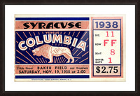 1938_College_Football_Syracuse vs. Columbia_Baker Field_New York City_Row One Brand Picture Frame print