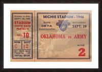 1946_College_Football_Oklahoma vs. Army_Michie Stadium_West Point_New York_Row One Brand Picture Frame print