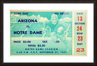 1941_College_Football_Arizona vs. Notre Dame_Notre Dame Stadium_South Bend_Row One Brand Picture Frame print