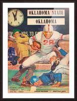 1959_College_Football_Oklahoma State vs. Oklahoma_Owen Field_Norman_Row One Brand Picture Frame print