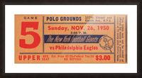 1950_National Football League_Philadelphia Eagles vs. New York Giants_Polo Grounds_NYC_Row One Brand Picture Frame print