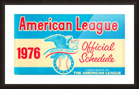 1976_Major League Baseball_American League Schedule_Row One Brand Picture Frame print