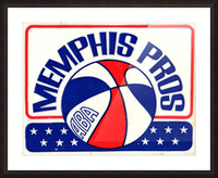1971_American Basketball Association_Memphis Pros_Row One Brand Picture Frame print