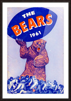 1961_National Football League_Chicago Bears_Row One Brand Picture Frame print