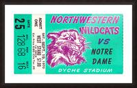 1970_College_Football_Notre Dame vs. Northwestern_Dyche Stadium_Evanston_Row One Brand Picture Frame print