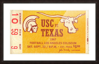 1967 USC vs. Texas  Picture Frame print