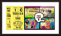 1973_College_Football_Texas vs. Texas A&M_Kyle Field_College Station_Row One Brand Picture Frame print