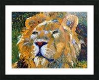 Lion Closeup Picture Frame print