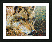 Wolf Closeup Picture Frame print