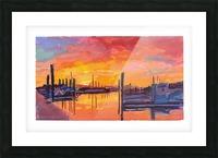 Bodega Bay Sunset Picture Frame print