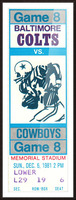 1981_National Football League_Baltimore Colts vs. Dallas Cowboys_Memorial Stadium_Baltimore_Row One Picture Frame print