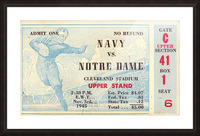 1945_College_Football_Navy vs. Notre Dame_Cleveland Stadium_Row One Brand Notre Dame Picture Frame print