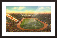 Vintage Los Angeles Coliseum USC Trojans Football Art Picture Frame print