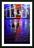 Red White and Bokeh Picture Frame print