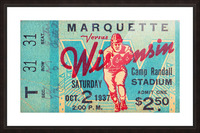 1937_College_Football_Marquette vs. Wisconsin_Camp Randall Stadium_Madison_Row One Tickets Row 1 Picture Frame print