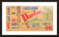 1940 Indiana vs. Purdue  Picture Frame print