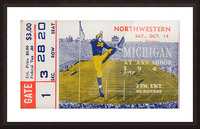 1944 Northwestern vs. Michigan Picture Frame print