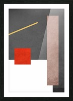 Textured Shapes 03 - Abstract Geometric Art Print Picture Frame print
