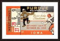 1959_College_Football_Purdue vs. Iowa_Ross Ade Stadium_Row One Ticket Stub Art Picture Frame print