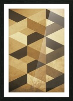 Textured Shapes 07 - Abstract Geometric Art Print Picture Frame print