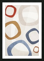 Textured Shapes 08 - Abstract Geometric Art Print Picture Frame print