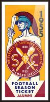 1955 USC Trojans Alumni Season Ticket Picture Frame print