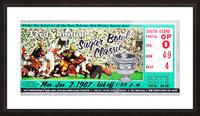 1967_College_Football_Sugar Bowl_Nebraska vs. Alabama_Tulane Stadium_Row One Brand Ticket Stub Art Picture Frame print