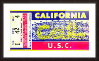 1969 Cal Bears Ticket Stub Picture Frame print