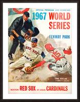1967 World Series Program Cover Art Fenway Park Picture Frame print