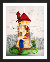 Wizard Tower Picture Frame print