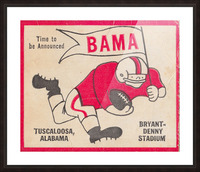1980 Bama Football Player Flag Art_Tuscaloosa Alabama_Bryant Denny Stadium_Ticket Stub Art Creations Picture Frame print