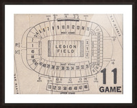 Legion Field Stadium Map Art_Vintage College Football Map Art Picture Frame print