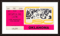 1981_College Football Art_USC vs. Oklahoma_Los Angeles Coliseum_College Football Rivalry Ticket Picture Frame print