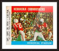 college football ticket art nebraska cornhuskers 1974 ticket stub Picture Frame print