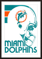 National Football League_Retro Miami Dolphins 1970s Art Reproduction Picture Frame print