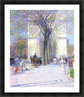Washington triumphal arch in spring by Hassam Picture Frame print