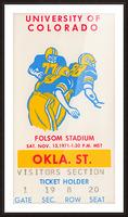 1971 Oklahoma State vs. Colorado Picture Frame print