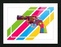 Python Handgun Picture Frame print