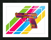 Heckler and Koch USP Handgun Picture Frame print