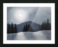 Mountain Moon Picture Frame print