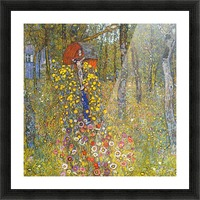 Farmers garden with crucifix by Klimt Picture Frame print