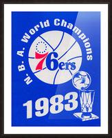 1983 NBA World Champions Philadelphia 76ers Art Reproduction 1 Picture Frame print