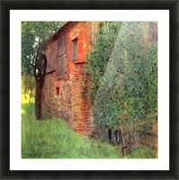 Farmhouse in Chamber in Attersee by Klimt Picture Frame print