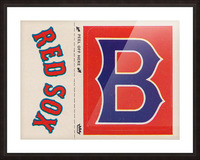 1978 Boston Red Sox Fleer Decal Reproduction 1200 DPI Scan Art by Row One™ Picture Frame print